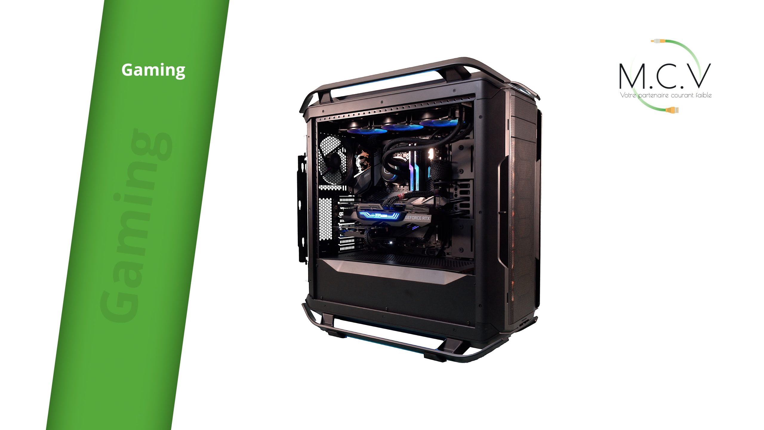 assemblage PC MCV bureautique gaming serveur montage video speed